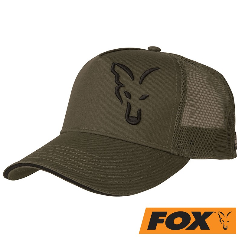 Čepice FOX GREEN & BLACK TRUCKER CAP